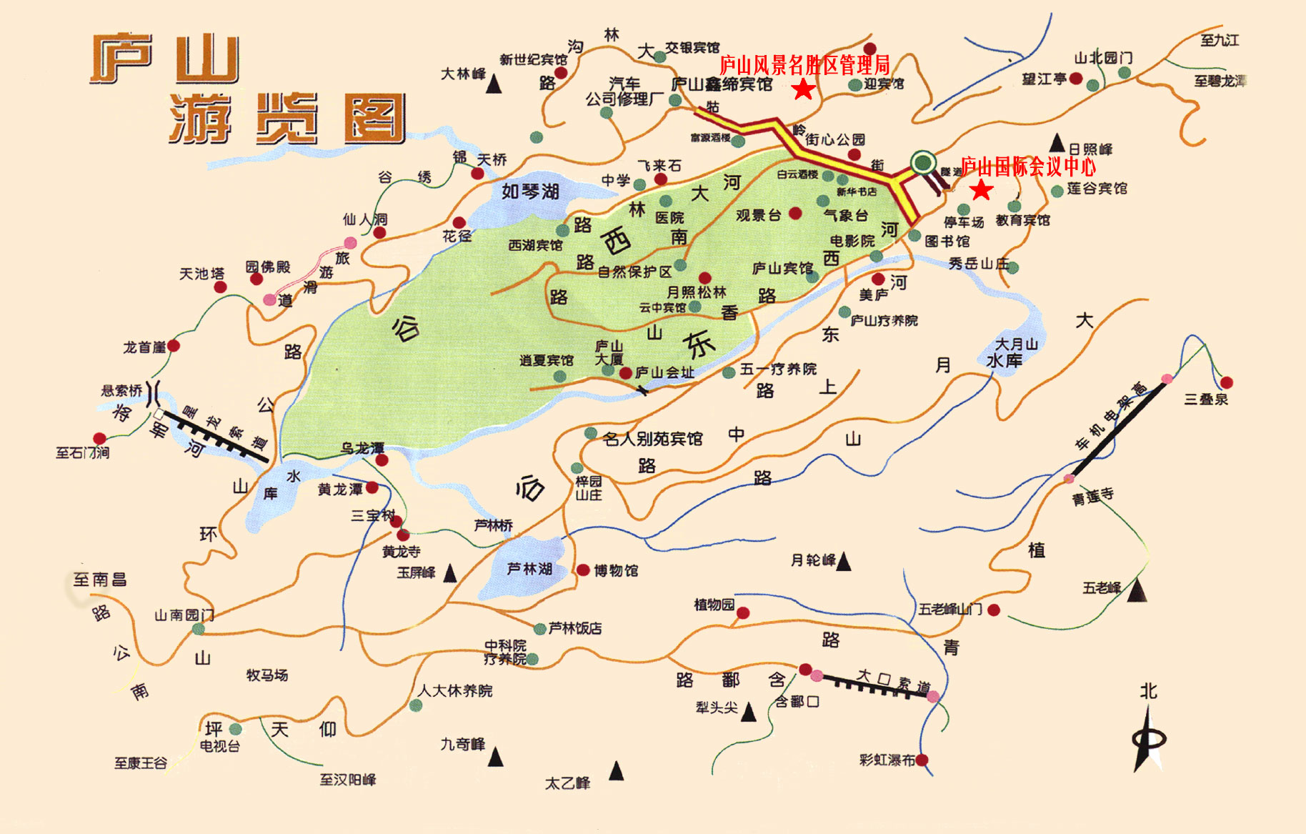 江西省庐山市地图
