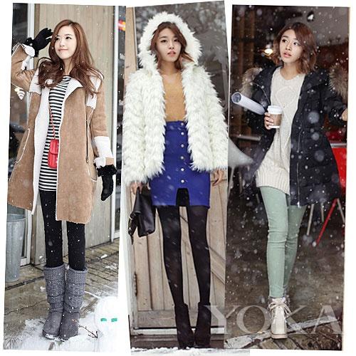 韩国达人雪天淡定style 做第一眼美女