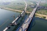 蒙華鐵路江西新余段袁河特大橋合龍在即