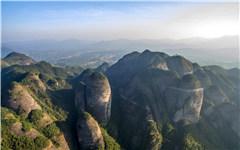 航拍南武当山99座石峰连绵十里