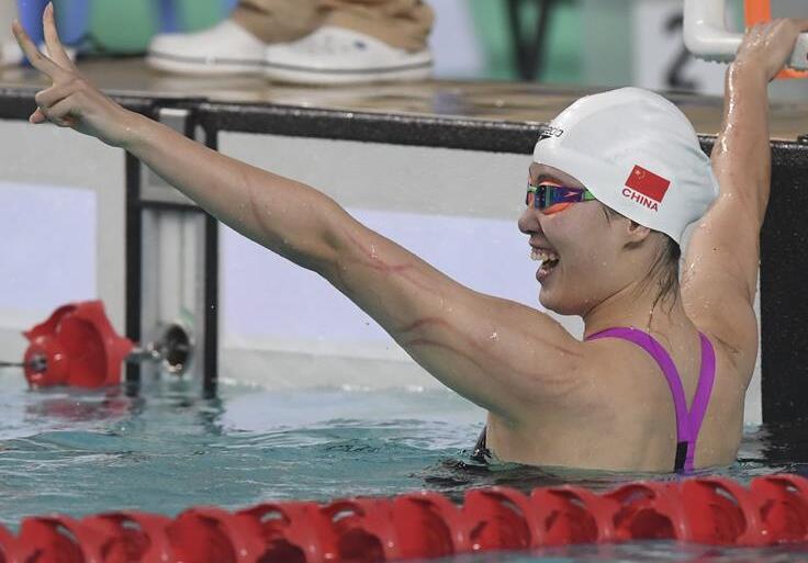 全國夏季遊泳錦標賽:傅園慧奪得女子100米仰泳冠軍