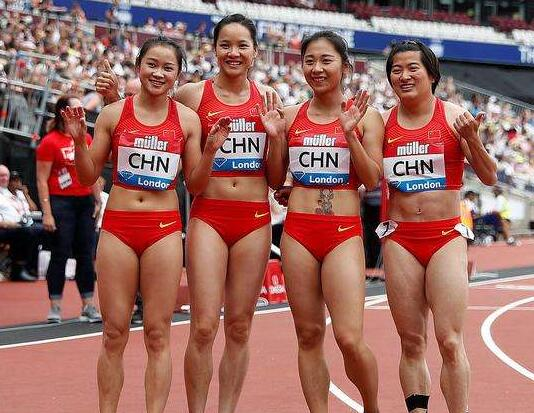 国际田联钻石联赛中国女子接力队获得亚军
