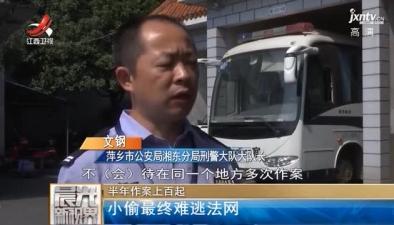 萍乡:小偷半年作案上百起 最终难逃法网