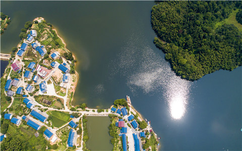 航拍江西仙女湖洋田村:一个江南渔村的蝶变