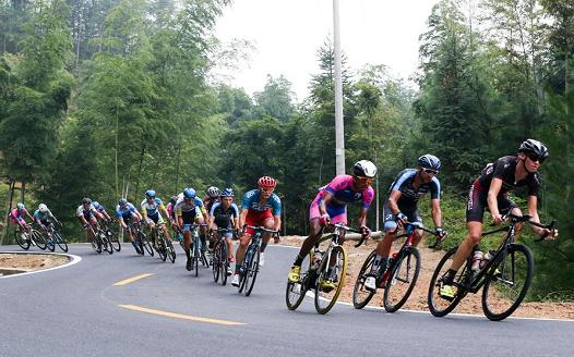第九届环鄱阳湖国际自行车大赛萍乡武功山站赛况