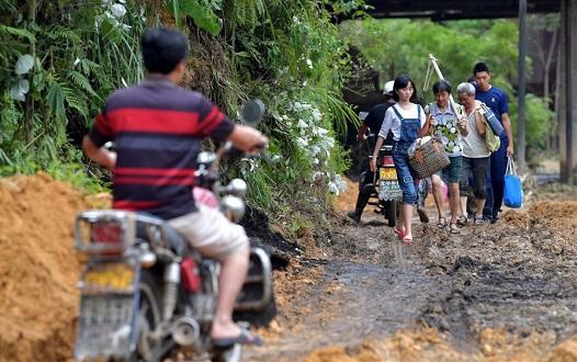 江西永新:強降雨導致山洪災害 受困群眾陸續轉移