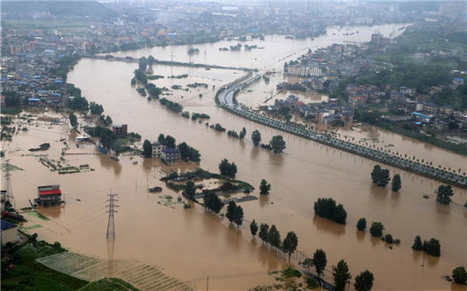 江西萍鄉遭遇強降雨 搶險救援積極開展