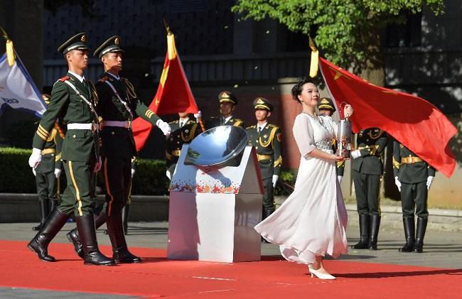 第七屆世界軍運會聖火火種採集和火炬傳遞啟動儀式在南昌舉行