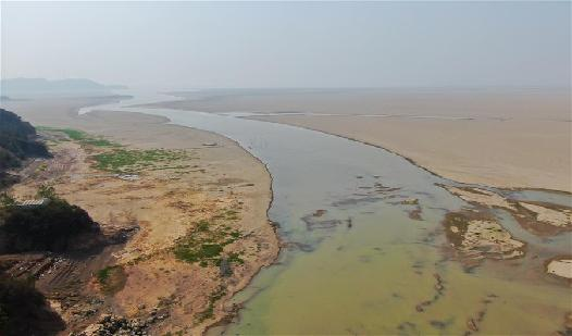 鄱陽湖提前出現低枯水位