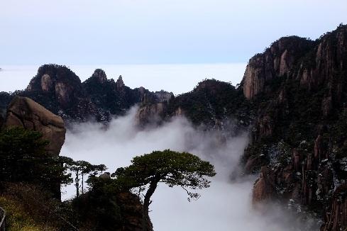 雪後三清山:雲霧縹緲 如夢如幻