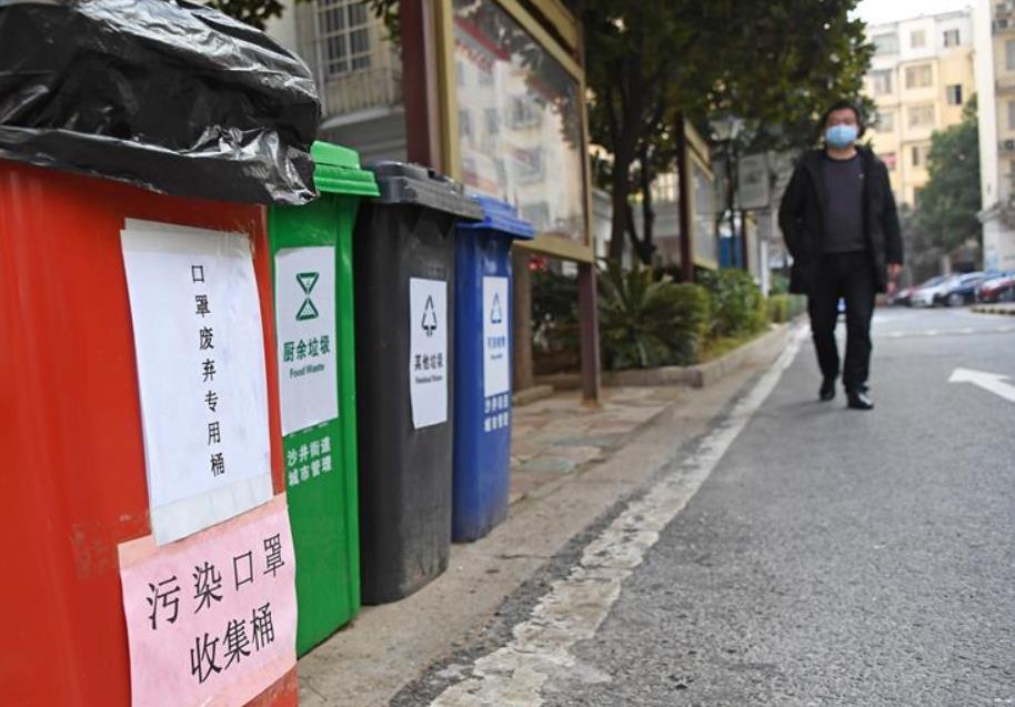 """江西南昌:萬余個廢棄口罩專用垃圾桶""""上崗"""""""