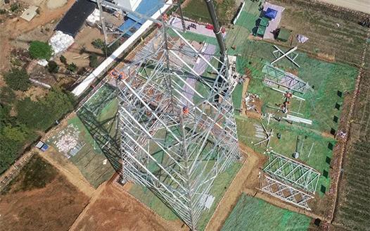 雅中至江西±800千伏特高壓直流輸電工程加緊施工