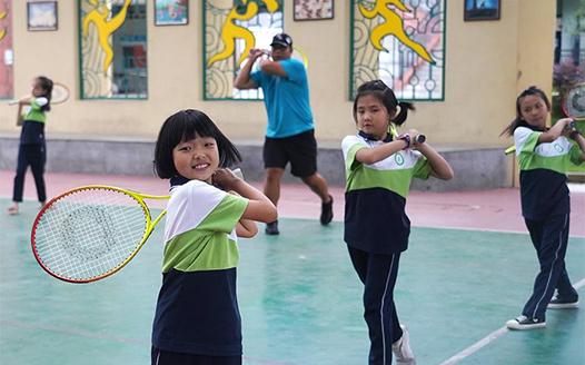 新學期的趣味網球課