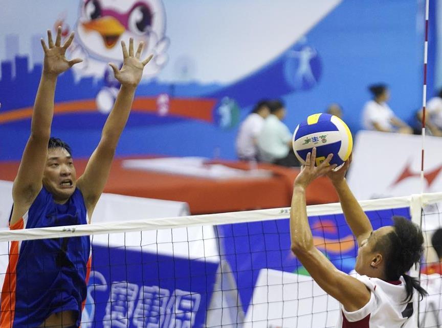 江西省全民健身運動會氣排球比賽開賽
