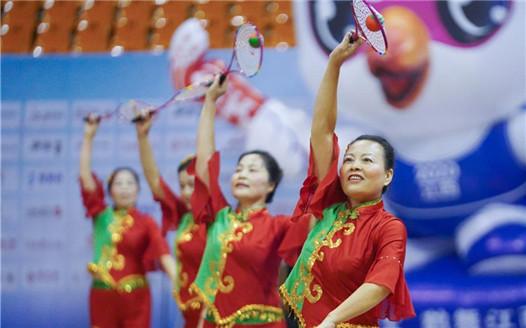 江西省全民健身運動會柔力球比賽賽況