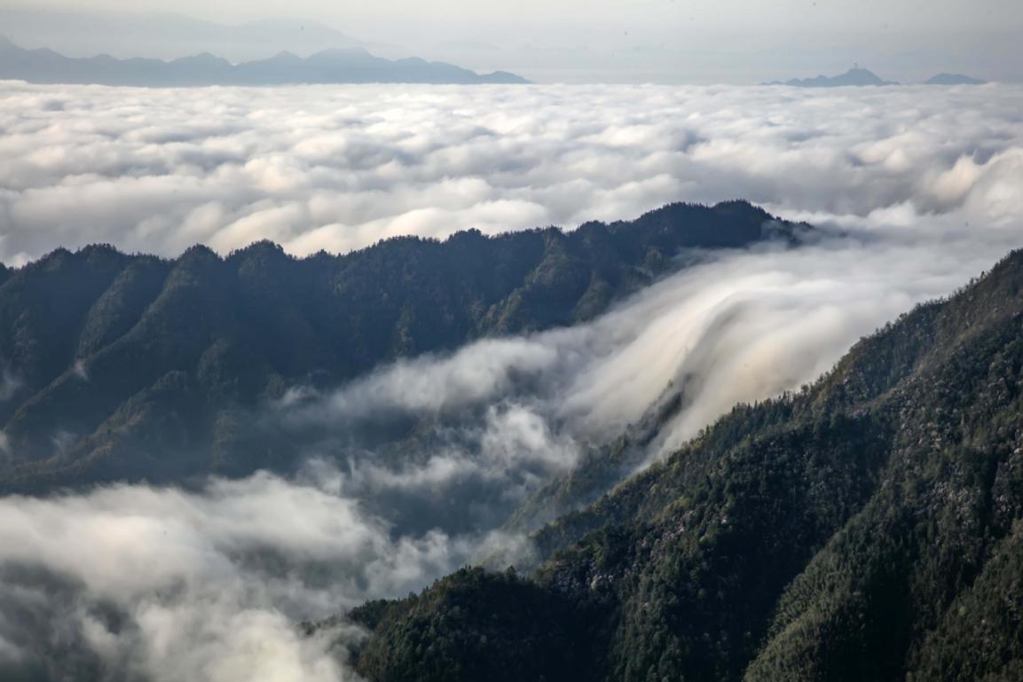 江西武寧:雲海翻騰 山村靜謐